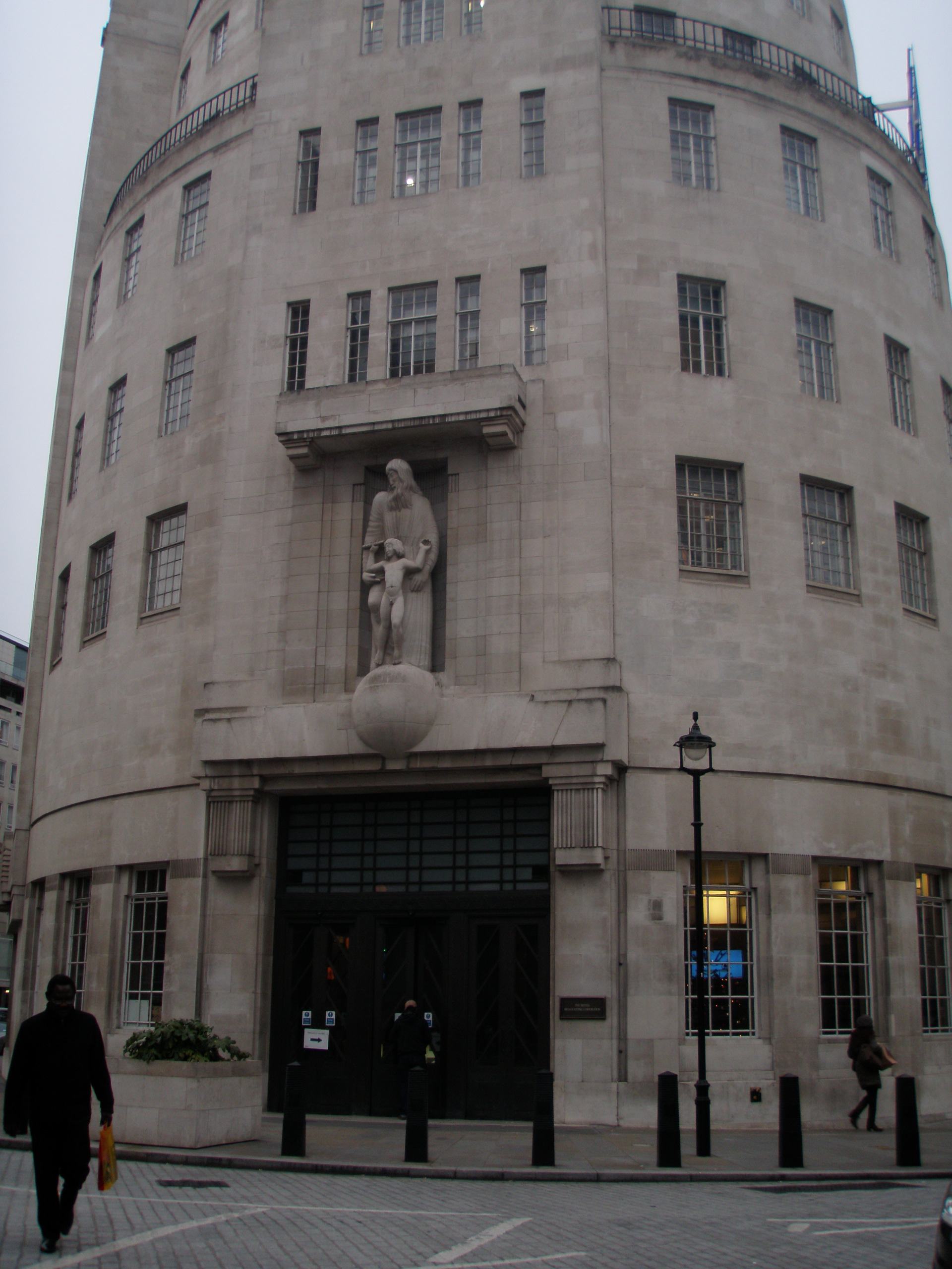 Front of the old bbc broadcasting house animal for Classic house radio