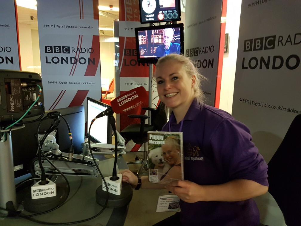 Puppy Massage DVD at BBC Lindon Radio